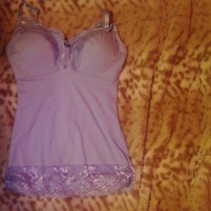 Light Perry winkle with lace sleepwear.